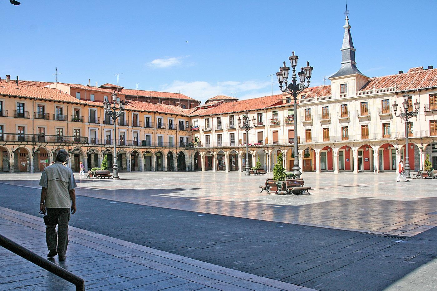 Der Plaza Mayor in León