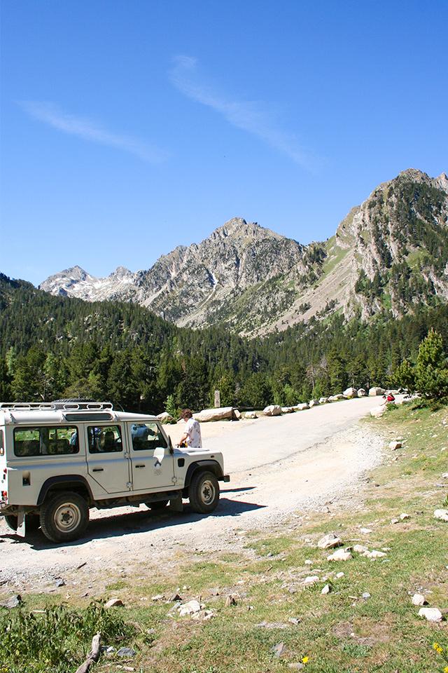 Mit dem Jeep Taxi nach Espot
